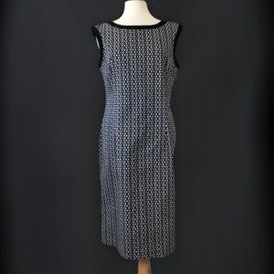 Melanie Lyne Black White Aline Dress Size 14